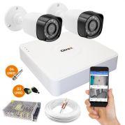 Kit Com 2 Câmeras de Segurança Full HD 1080p e DVR de 4 Canais Luxvision