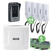 Kit Condominial De Interfone Digital Completo 44 Pontos Comunic Intelbras Com Porteiro Eletrônico