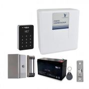 Kit Controlador de Acesso Intelbras Com Fechadura Eletroímã e Tag de Acesso Completo