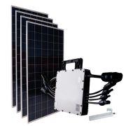 Kit Fotovoltaico Gerador de Energia Solar 1.36Kwp 163,2kwh Hoymiles
