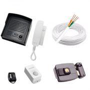 Kit Interfone + Fechadura Com Acionamento Por Controle Remoto