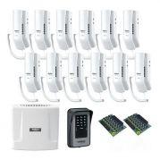 Kit Interfone Digital Completo Comunic 12 Pontos c/ Porteiro Eletrônico - Intelbras