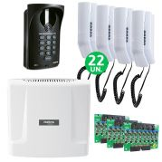 Kit Interfone Digital Completo Comunic 22 Pontos c/ Porteiro Eletrônico - Intelbras