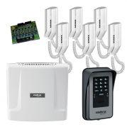 Kit Interfone Digital Completo Comunic 6 Pontos c/ Porteiro Eletrônico - Intelbras
