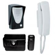 Kit Interfone Porteiro Eletrônico Com Fechadura Elétrica Completo