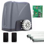 Kit Motor Portão Eletrônico 1/4 HP Automatizador Deslizante DZ Nano Turbo - Rossi
