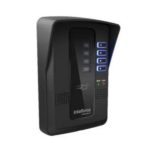 Kit Porteiro Eletrônico Coletivo Intelbras 4 Pontos Completo Interfone Com Controle de Acesso