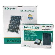Kit Refletor LED 40W Com Alimentação Por Painel Solar e Bateria Interna Solar Light