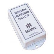 Microfone Profissional IPEC Para Sistema de Monitoramento CFTV