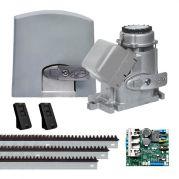Motor de Portão Automatizador Deslizante Jet Flex DZ Predial 3/4 HP Central Híbrida Bivolt - PPA