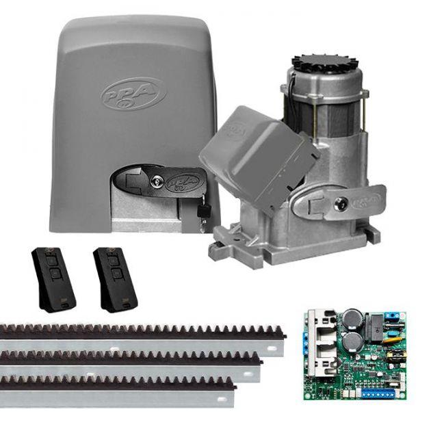 Motor de Portão Deslizante 3/4 HP DZ Condominium Jet Flex Central Híbrida Bivolt - PPA