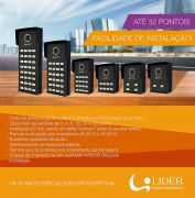 Porteiro Coletivo Smart Interfone 2 Pontos Lider LR 802 c/ Fonte Embutida