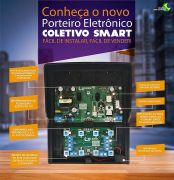Porteiro Coletivo Smart Interfone 8 Pontos Lider LR 808 c/ Fonte Embutida