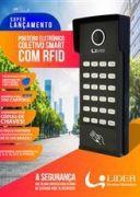 Porteiro Coletivo Smart RFID Interfone 2 Pontos Com Controlador de Acesso Lider