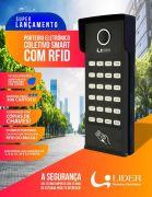 Porteiro Coletivo Smart RFID Interfone 4 Pontos Com Controlador de Acesso Lider