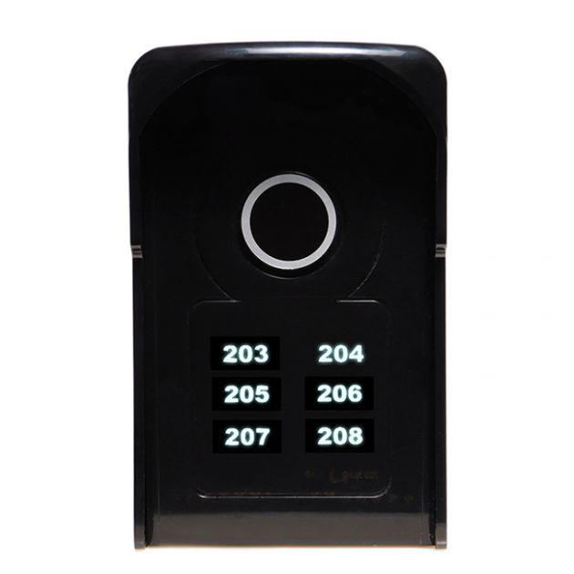 Porteiro Eletrônico Coletivo 6 Pontos c/ Teclas Touch LR 5506 - Lider