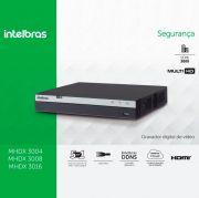 DVR Multi HD Intelbras MHDX 3004 Gravador Digital de Vídeo 4 Canais Full HD 1080p