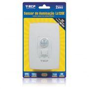 Sensor de Iluminação Por Presença e Fotocélula Minuteira ECP LS120E - Embutir Na Parede c/ Botão Liga e Desliga