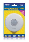 Sensor de Iluminação Por Presença e Fotocélula Minuteira ECP LS360TS - Sobrepor No Teto