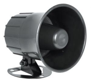 Sirene Corneta Magnética de Alta Potência Preta 12v