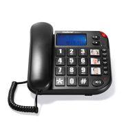 Telefone Com Fio Teclas Grandes e Identificador de Chamadas ToK Fácil ID Intelbras