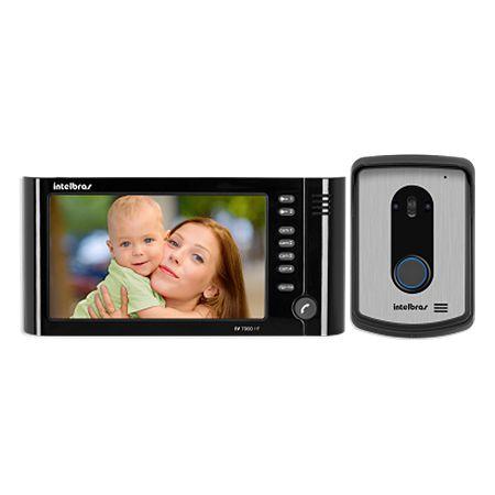 "Vídeo Porteiro Intelbras IV 7010 HF Viva Voz LCD Colorido de 7"" - Preto"